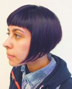 20 Graduated Bob Cut In Shades Of Purple